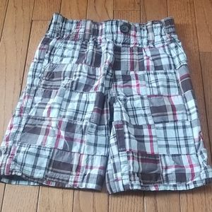 Gymboree boys patchwork plaid shorts play ball